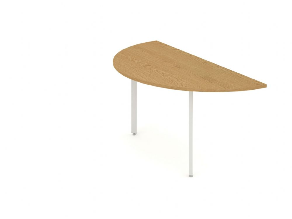 Conference D End Return Desk|1600mm|Available in Beech, Maple, Oak, Light Walnut & White Finish